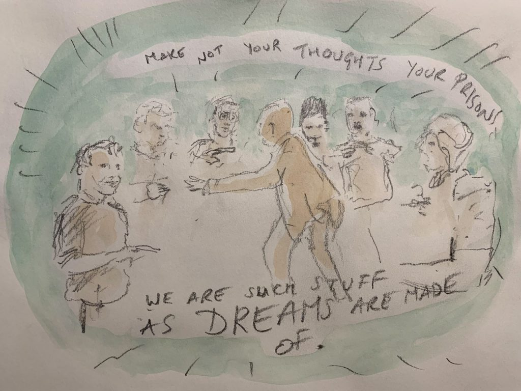 LSW Prison Shakespeare Workout Drawing by Mark Crick at HMP Pentonville