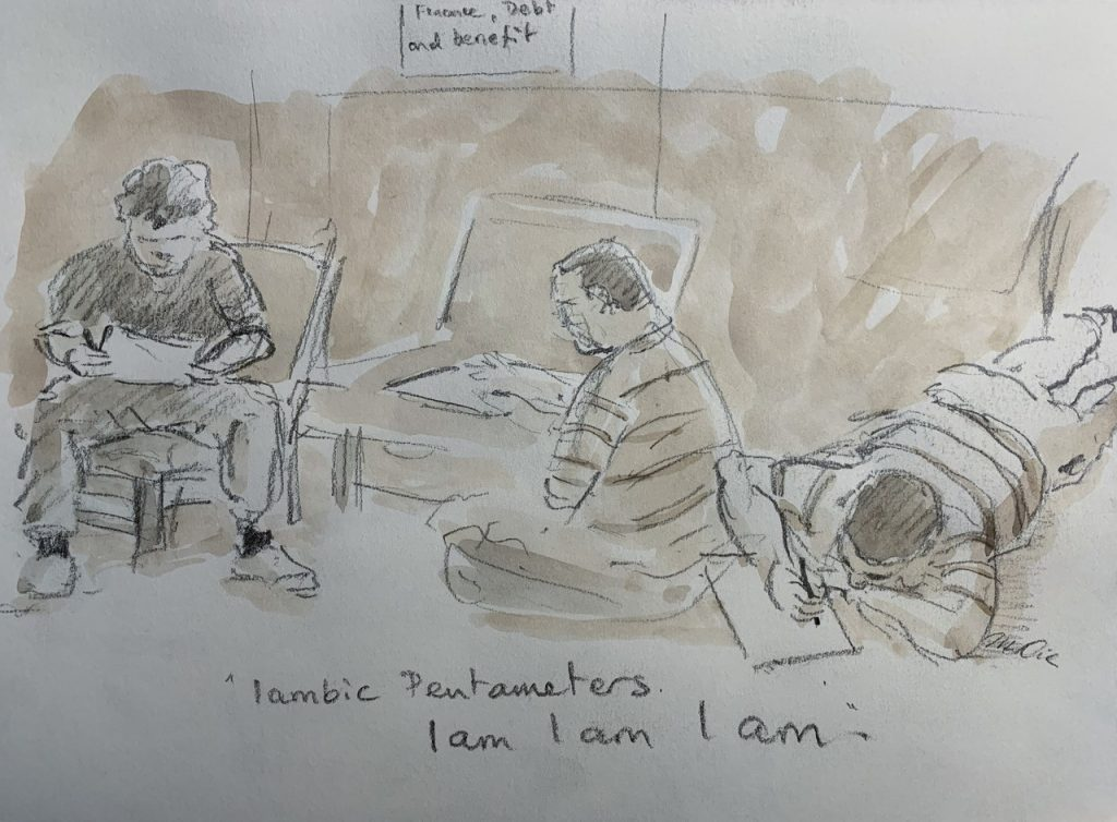 LSW Prison Shakespeare Workout Drawing by Mark Crick